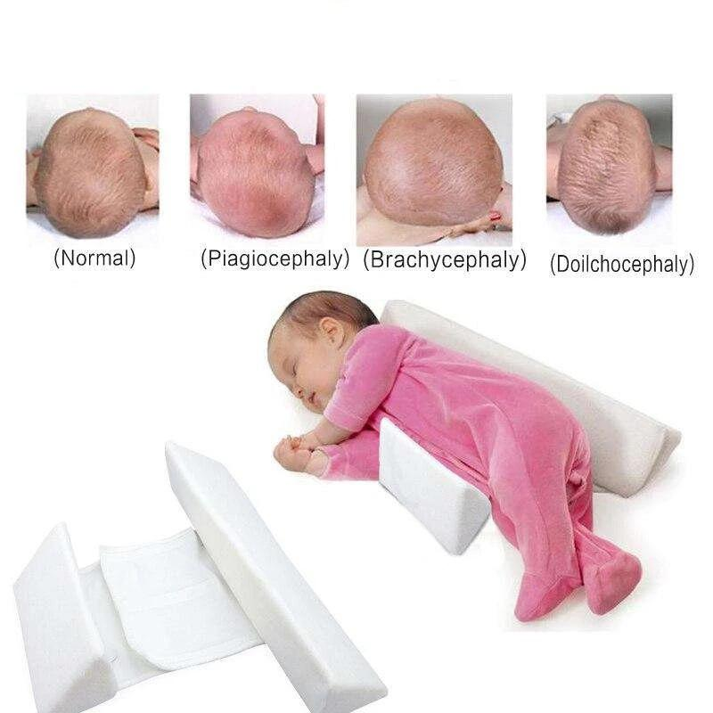 Baby Pillow Adjustable Memory Foam Support Newborn Infant Sleep