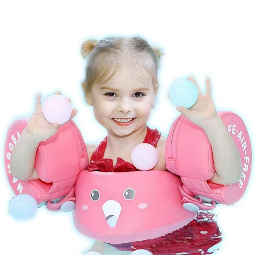 girl in Mambobaby arm float pink